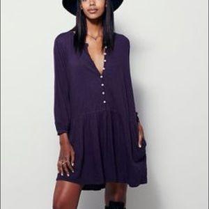 Free People Button Up Mini Dress XS